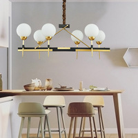 Modern LED copper chandeliers loft luminaires Nordic lighting living room Pendant lamps dining room hanging lights