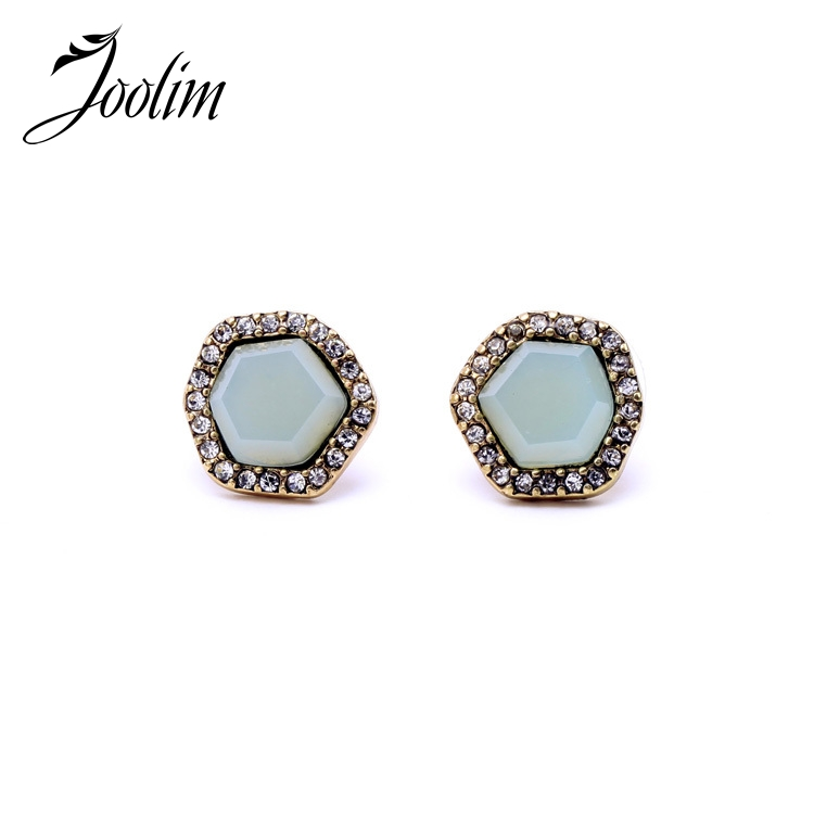 JOOLIM Jewelry Wholesale/2015 Brief Irregular stud Earring Accessories Jewelry Free Shipping