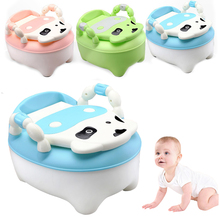 Children Portable Urinals Toilet Potty Seat Folding Chair 46*35*30cm Safety Durable Cow Shape Baby Girl Boy Urinals Toilet Seat