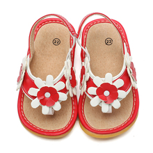 little girls flowers squeaky flip-flops thong sandals 1-3 years kids summer shoe chaussure nina zapatos comfortable fashionable