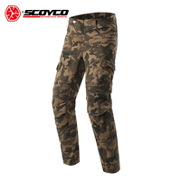 SCOYCO Motorcycle Pants Motorcycle Camouflage Jeans Motocross Trousers Off Road Racing Pants Motorbike Jeans with CE Protectors