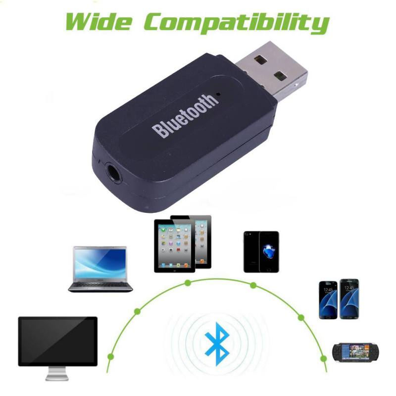High Quality H-163+USB Bluetooth Receiver Speaker PC Laptop Phone Adapter With 3.5mm Audio Interface + USB Interface