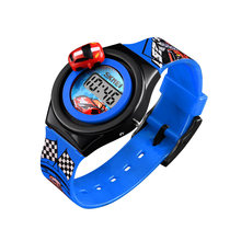 Дети электронные часы гоночный трек дизайн наручные часы с раздвижными автомобиль мультфильм часы LXH