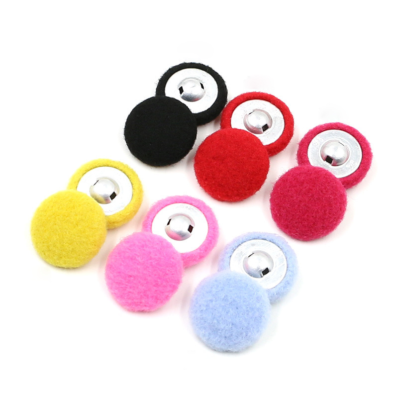 High-grade Cashmere Fabric Covered Buttons Female Sweater Satin Manual Cloth Flannelette Bag Buckles