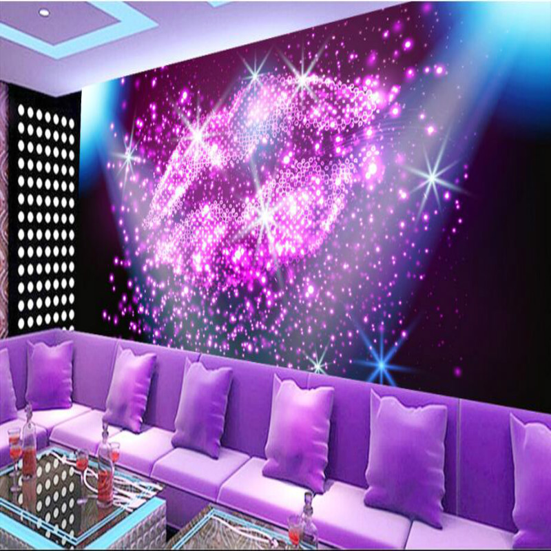 Customization backgrounds 3D wallpaper for walls 3d wallpaper murals photo Non Woven silk for living room Purple glare crystal