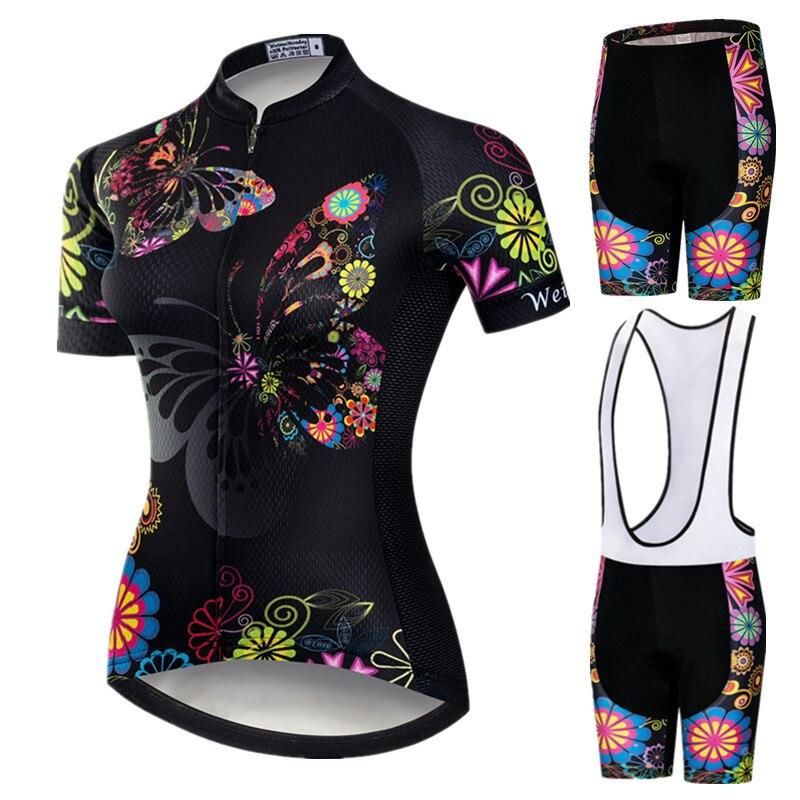 Weimostar 2019 Pro Cycling Abbigliamento Delle Donne Del Vestito Squadra di Mountain Bike Abbigliamento Anti-Uv Usura Della Bicicletta Manica Corta Ciclismo Jersey Set