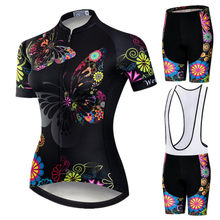 Weimostar 2019 Pro Cycling Clothing Women Suit Team Mountain Bike Clothing Anti-UV Bicycle Wear Short Sleeve Cycling Jersey Set(China)