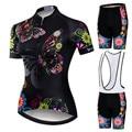 Weimostar 2019 Pro Radfahren Kleidung Frauen Anzug Team Mountainbike Kleidung Anti Uv Fahrrad Tragen Kurzarm Radfahren Jersey Set-in Fahrrad-Sets aus Sport und Unterhaltung bei