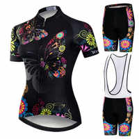 Weimostar 2019 Pro Radfahren Kleidung Frauen Anzug Team Mountainbike Kleidung Anti-Uv Fahrrad Tragen Kurzarm Radfahren Jersey Set