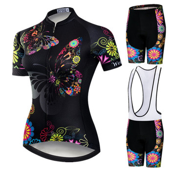 Weimostar 2020 Pro Cycling Clothing Women Suit Team Mountain Bike Anti-UV Bicycle Wear Short Sleeve Jersey Set