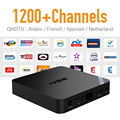 Android 6.0 Caixa de TV Rápido CPU 2 GB de RAM e Livre IPTV Europa árabe Francês Céu Esporte Conta Apoio BT 4.0 Sem Fio HD IPTV Topo caixa