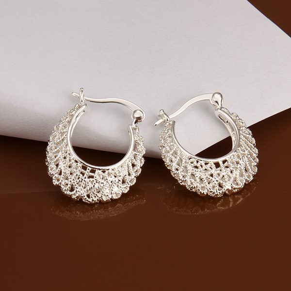 Hmong Lock Vintage Hoop Earrings 925 Solid Silver E329 Gift Box Free Fashion New Jewelry Brincos De Prata In From Accessories On