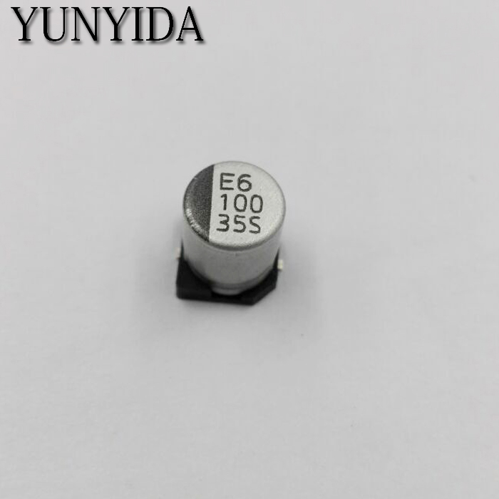 Free Shipping 20pcs SMD 50V <font><b>35V</b></font> 25V 16V 10V 100UF <font><b>220UF</b></font> 47UF 33UF 22UF 10UF 4.7UF 2.2UF 1UF Aluminum Electrolytic Capacitor image