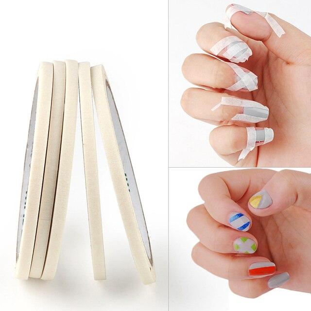 1 Roll 3mm White Creative Nail Art Tape DIY Design Masking Tape Sticker Nail Decoration Guide Stripe Tools