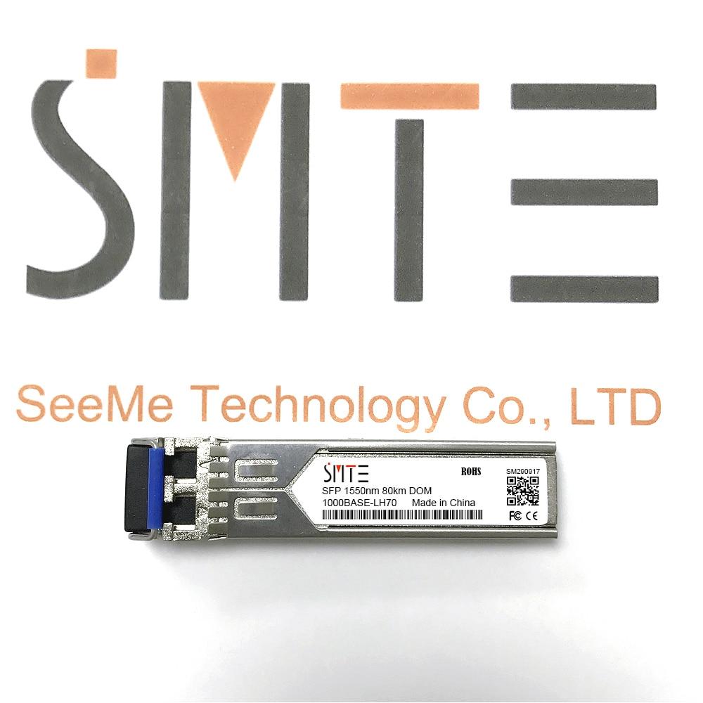 Compatible with Alcatel-Lucent SFP-GIG-LH70 1000BASE-LH70 SFP 1550nm 80km DDM Transceiver module SFPCompatible with Alcatel-Lucent SFP-GIG-LH70 1000BASE-LH70 SFP 1550nm 80km DDM Transceiver module SFP