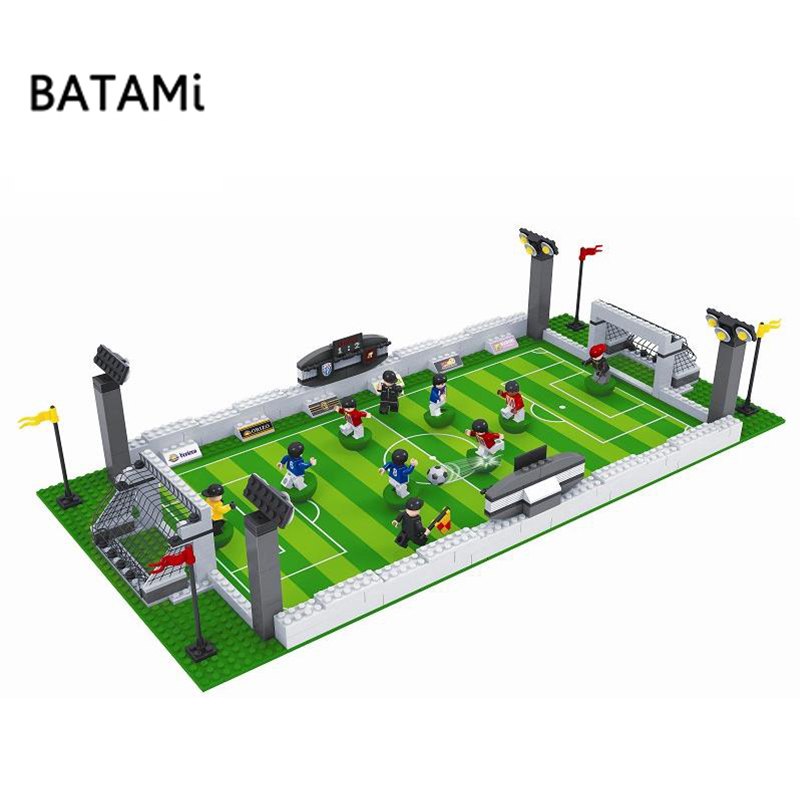 Model building kits compatible with CITY football series 199 3D blocks Educational model building toys hobbies