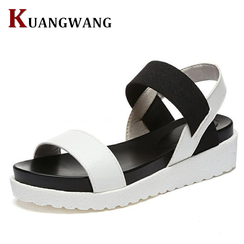 KUANGWANG Summer Sandals For Women Flat Shoes Ladies