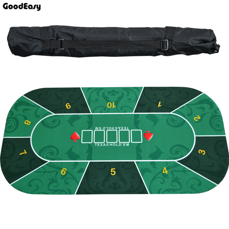 1.2m Texas Hold'em Tablecloth Rubber Mat Board Game Pokers Table Top Digital Printing Suede Casino Layout Poker Accessories