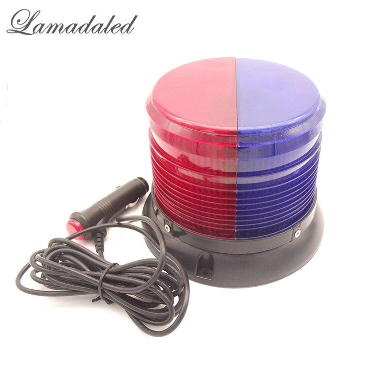 Lamadaled 12В 16см круглые красно-синий полицейский автомобиль свет строба Сид аварийного маяка крыши автомобиля вспышки сигнальная лампа с магнитом