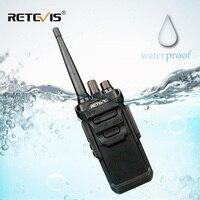 """מכשיר הקשר RETEVIS RT48 / RT648 מכשיר הקשר IP67 Waterproof PMR רדיו המירוץ PMR446 / FRS VOX שני הדרך רדיו תחנת Comunicador מקמ""""ש (1)"""