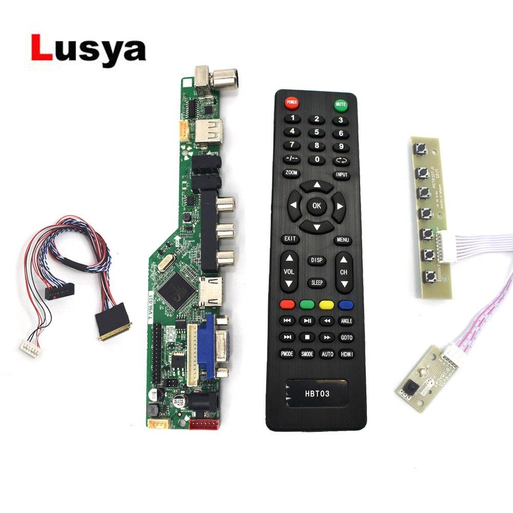 HDMI VGA AV USB AUDIO LCD Screen Controller Board For 14