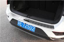For Volkswagen t-roc Special Threshold Backup Box Guard Plate Stainless Steel Tailbox Interior Decoration Strip 1pc for patrol y62 rear guard plate stainless steel threshold bar protect decoration