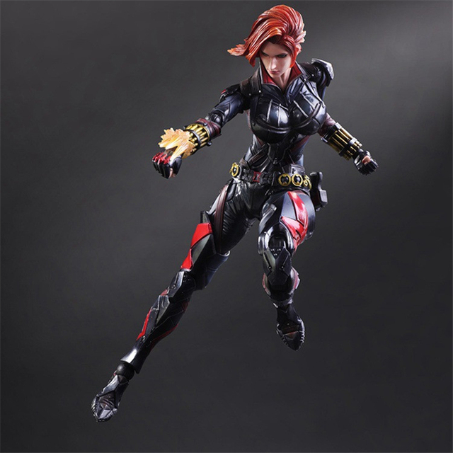 Anime Revision Black Widow 270mm PVC Marvel Legend Figure Birthday Gift Finished Goods With Equipment Original Box