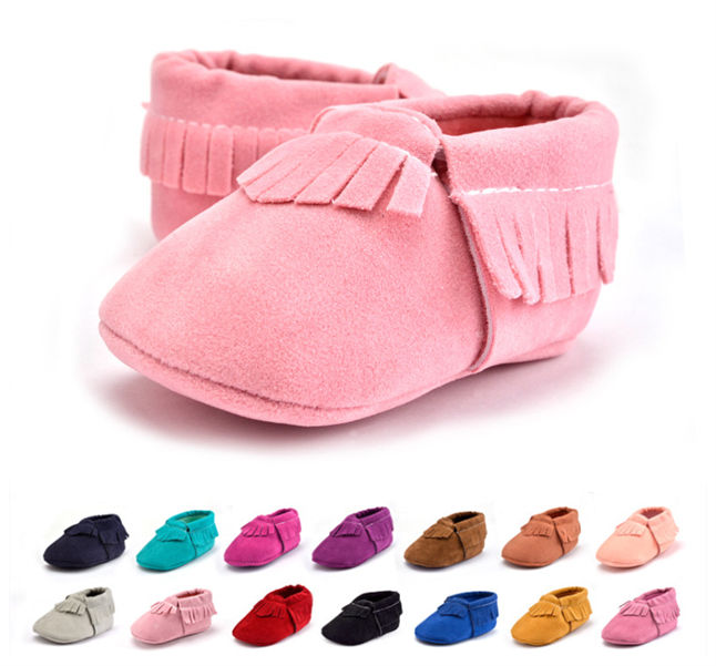 2018 Cute Toddled Baby Soft Sole Tassel Shoes Infant Boy Girl Moccasin Shoes First Walk Shoes