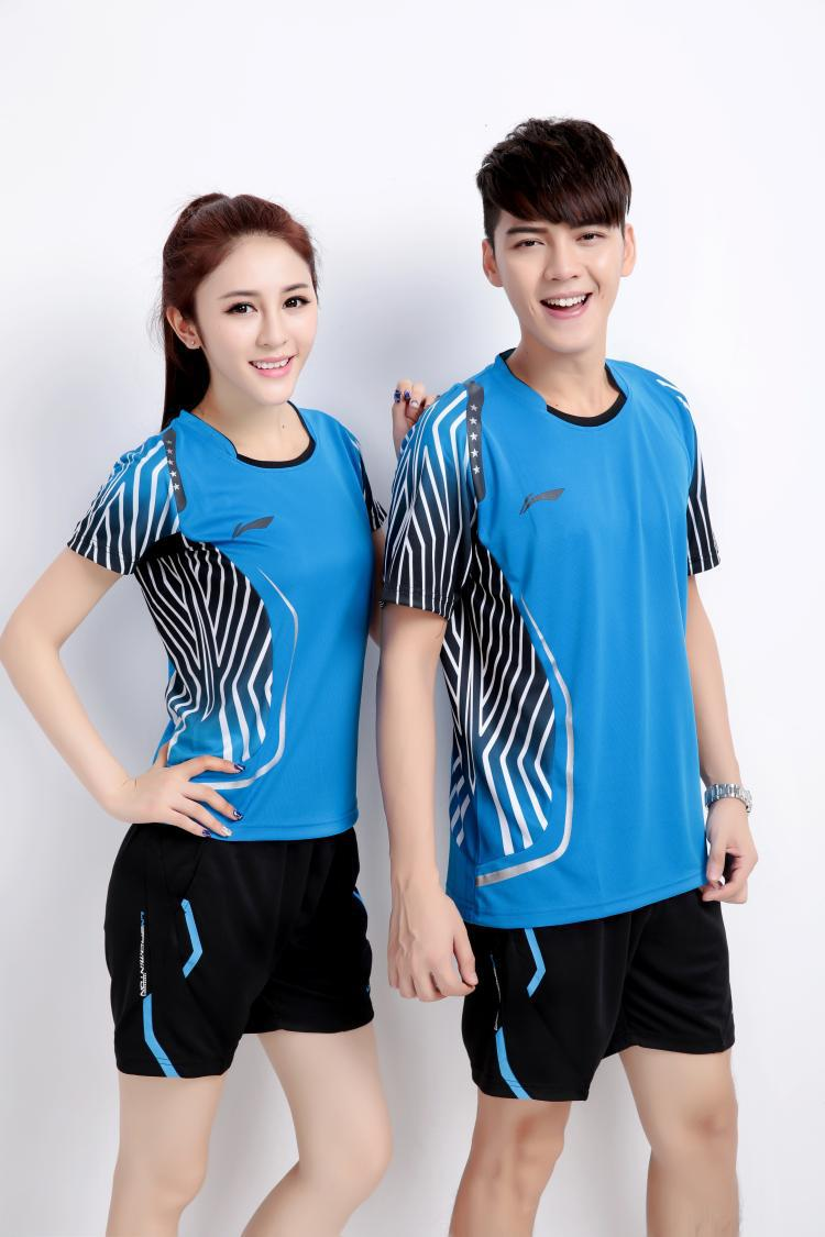 Victory badminton clothing suits men and women sports racing suit lapel  round neck sweat wicking shorts free shipping,in Table Tennis Sets from  Sports