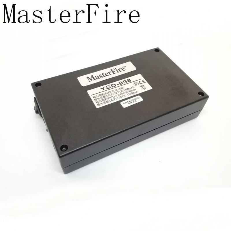 MasterFire 10set lot 5V 15000mAh 9V 8500mAh 12V 6500mAh 3 in 1 DC Rechargeable Battery Li ion Batteries For CCTV CAM Camera DVR in Battery Packs from Consumer Electronics