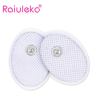 100Pcs Tens Acupuncture therapy snap electrode pads for slimming electric body massager muscle stimulator machine pain relief