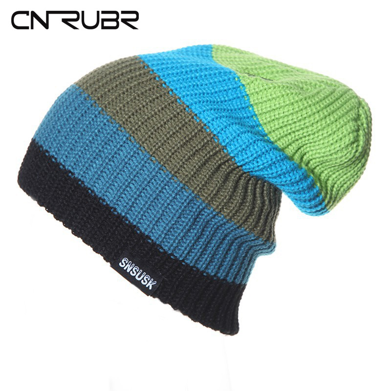 CN-RUBR 2016 Fashion Brand Men Women Warm Winter Knitting Skating Cap  Beanies Gorros Cap Skullies Cap Snowboard 5 Colors cn rubr high quality casual hat winter skating unisex caps warm dot knitting beanies christmas gifts for women men