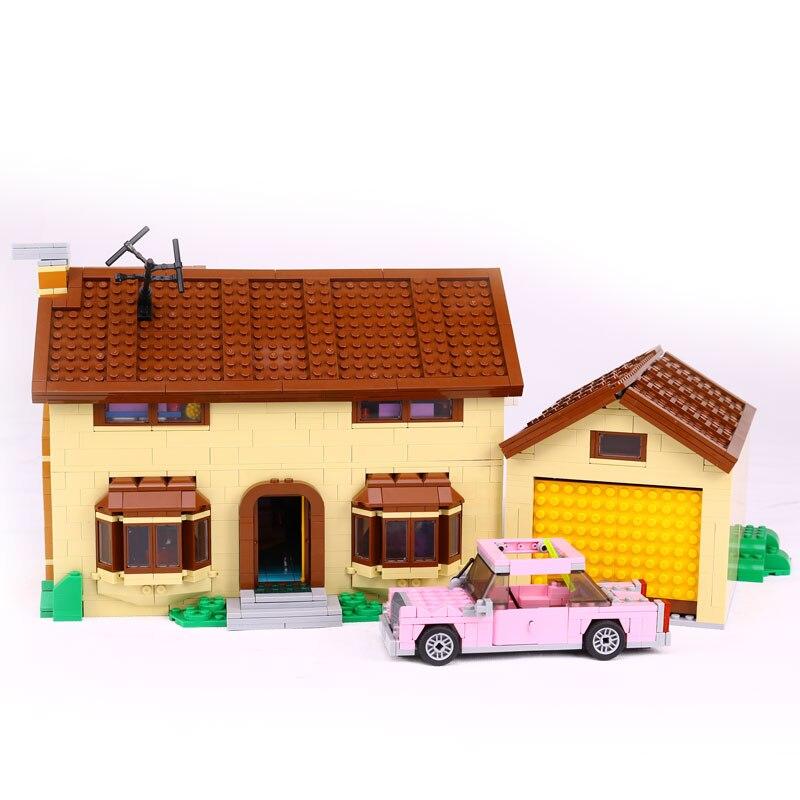 Lepin 16005 2575 Stucke Simpson familie Kwik-E-Mart Set Bausteinziegelsteine Padagogisches Spielzeug legoinglys 71006 Toys