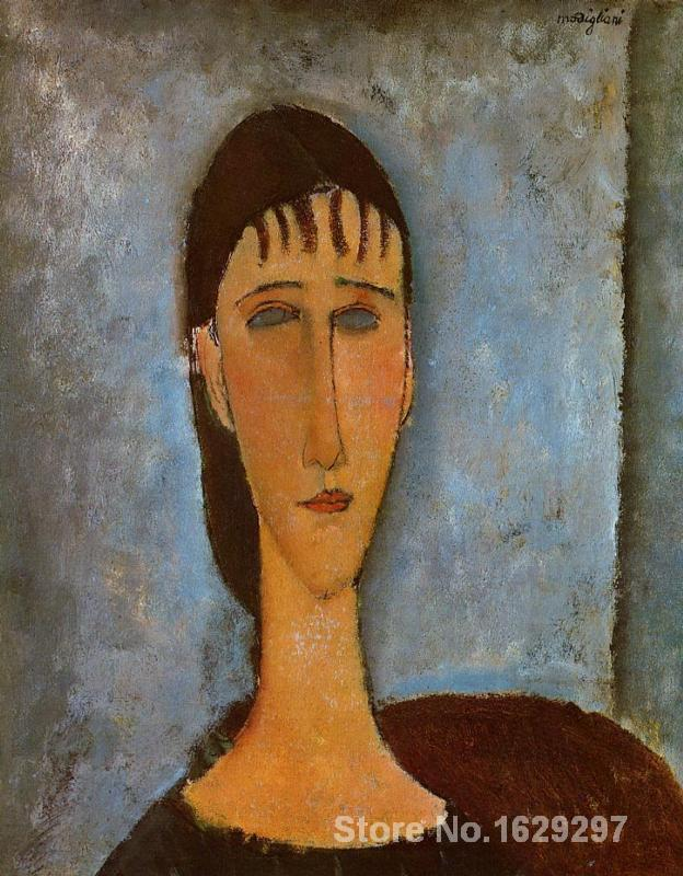 wall art modern Portrait of a Young Girl Amedeo Modigliani Paintings Hand painted High qualitywall art modern Portrait of a Young Girl Amedeo Modigliani Paintings Hand painted High quality