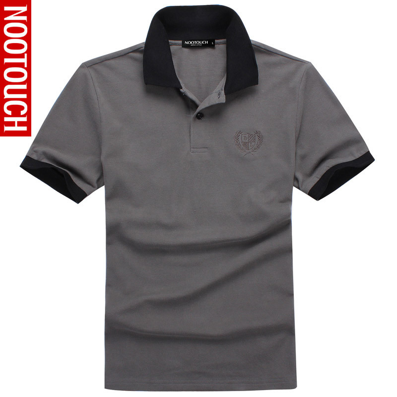 New 2015 Summer Cotton Mens Polos Shirts Brands Gray