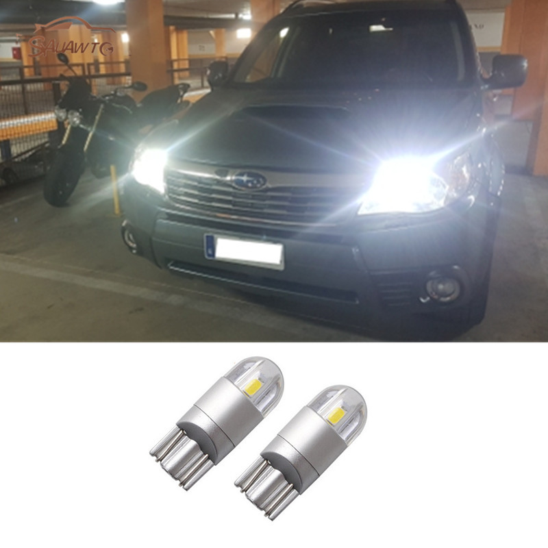 2x T10 Led Car Parking Lights Bulb For Subaru Impreza Spoiler Forester Xv Legacy B4 Outback Sti Wrx Brz B9 Tribeca