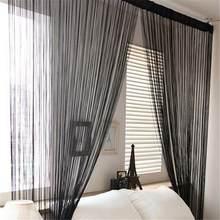 Door Windows Curtains for Living Room 200cm x 100cm Divider Yarn String Curtain Strip Tassel Drape Decor Elegant Style Curtains(China)