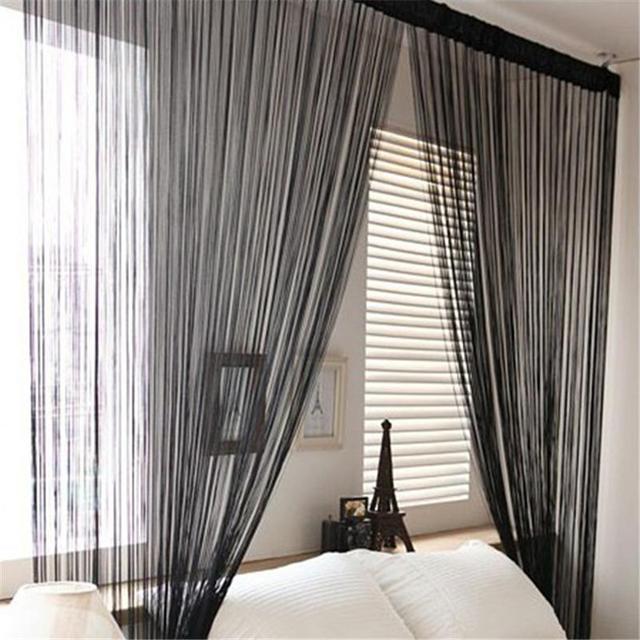 ประตู Windows ผ้าม่านสำหรับห้องนั่งเล่น 200 เซนติเมตร x 100 เซนติเมตร Divider เส้นด้ายสายรัดผ้าม่านผ้าม่าน Decor ผ้าม่านสไตล์