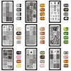 12*6cm 32 Designs Geometry English Letter Nail Art Stamping Template Plates DIY Polish Print Image Plates Manicure Tools XYZ1-32 1
