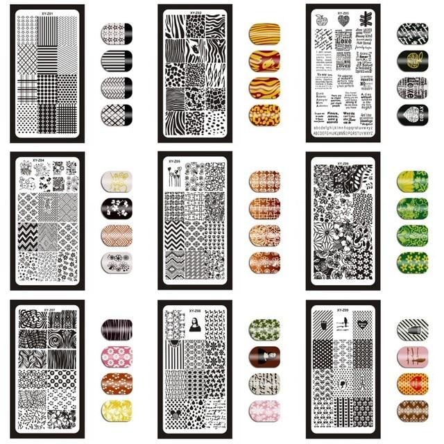 12*6 см 32 дизайна геометрические английские буквы фотопластины для самостоятельного польского рисунка пластины для рисунка инструменты для маникюра