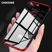 CHOEOIWE Cases for Huawei P Smart Plating Soft Case psmart Cover Silicone Transparent Phone Back Covers