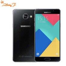 Дешевые Оригинальный Samsung Galaxy A7 dual sim двойной 4 г смартфон A7100 octacore 16 г Встроенная память 13MP Камера 5.5» 1080 P мобильного телефона