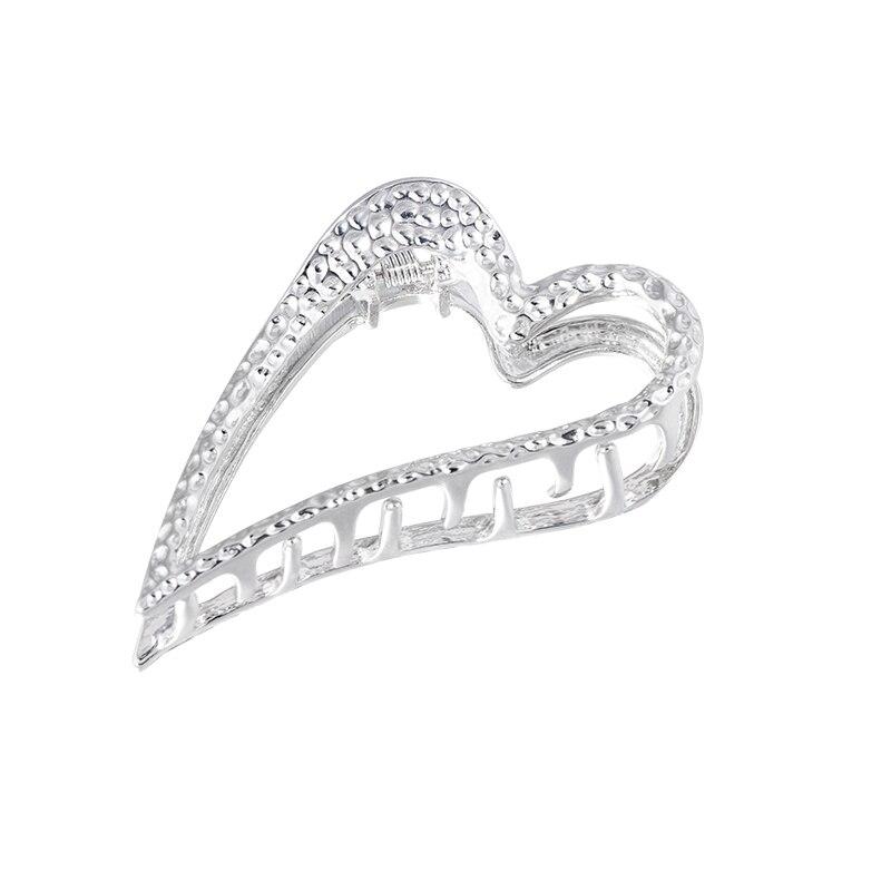 8cm length hair claws heart High Quality Hairpins Hair Clip Crab For Women Girl Hair Jewelry Accessories headwear