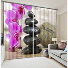 3D Blackout Curtains Cartoon Strange Stones & Flowers Pattern Fabric Children Bedroom kitchen curtains for Living Room