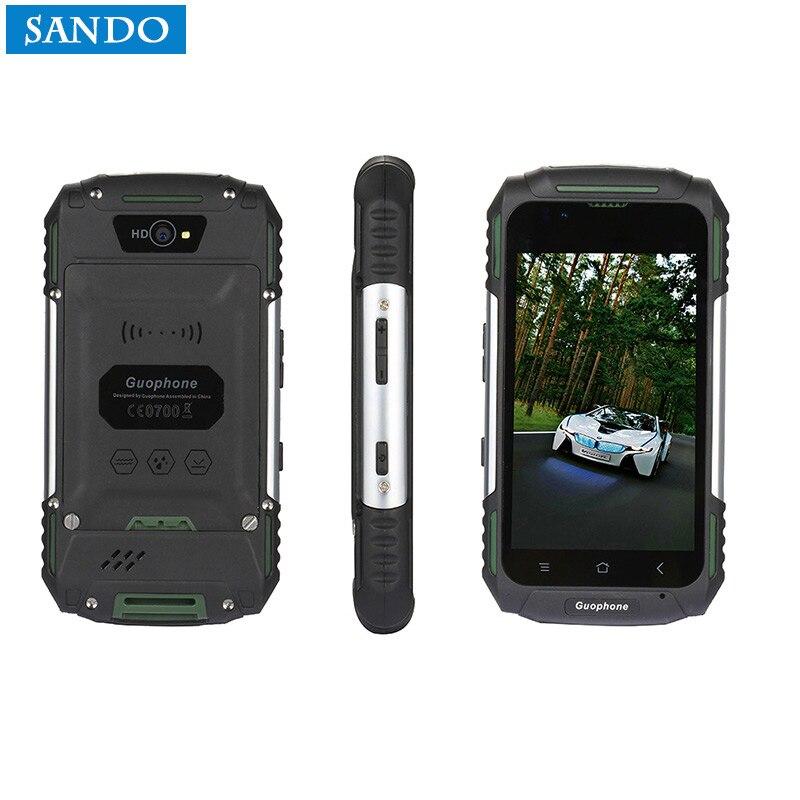 3-proof GUOPHONE V88 Phone Waterproof Shockproof 3G Quad Core 1GB RAM 8MP Dual SIM 3200mAH GPS 4 inch Smartphone android 5.1