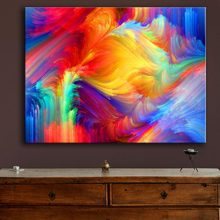 Huge Size spot the pattern paint the rainbow wall painting for home decor ideas print on canvas oil painting no frame(China)