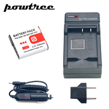 1Packs DSC-T100 Li-ion Camera Battery 3.7V 1500mAh +Battery Charger+Car Charger For SONY DSC-T20 DSC-W300 DSC-W200 W100