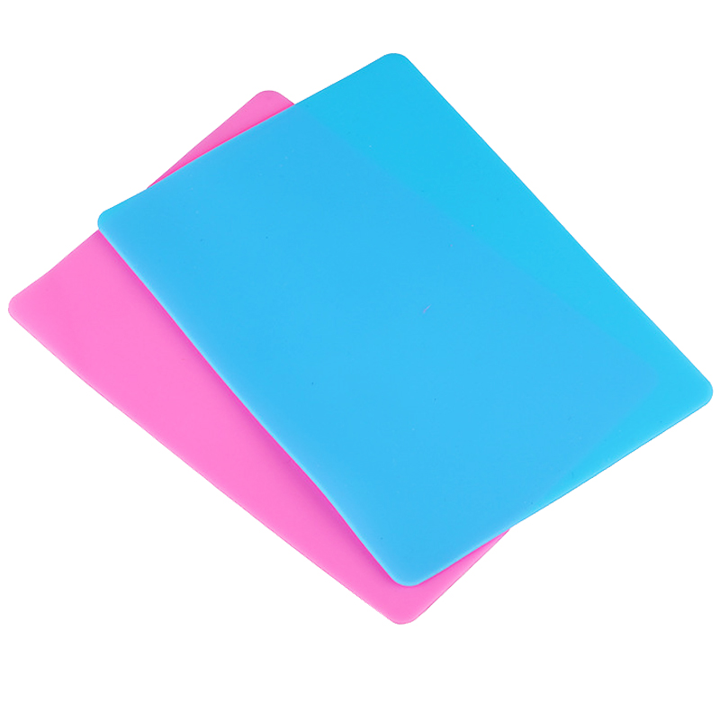 Silicone Mold Handmade DIY Jewelry Making Molds 4 Sizes Pink Blue Rectangle Table Plate Mat Resin Silicone Plate(China)