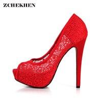 See Through Fashion Design Women S High Heel Pumps Summer Cherr Party Wedding Stiletto Thin Heels