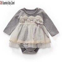 JMS Kasenbely baby girl cute rompers O neck infant dresses lace newborn girl onesie
